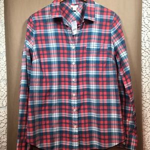 J Crew plaid Medium  lightweight cotton